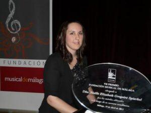 NOËLLE ELISABETH GREGOIRE SPIERKEL, PIANISTA DE 22 AÑOS, GALARDONADA CON EL VII PREMIO FUNDACIÓN MUSICAL DE MÁLAGA 2013.