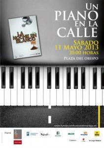 LA FUNDACIÓN MUSICAL DE MÁLAGA COLABORA CON LA NOCHE EN BLANCO 2013 A TRAVÉS DE LA ACTIVIDAD: UN PIANO EN LA CALLE