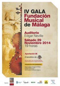 CARTEL IV GALA FUNDACIÓN MUSICAL DE MÁLAGA