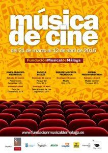 CARTEL MÚSICA DE CINE EN COLABORACIÓN CON EL MaF- MÁLAGA DE FESTIVAL