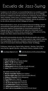 REVERSO V ANIVERSARIO Y FIN DE CURSO DE LA ESCUELA DE JAZZ-SWING