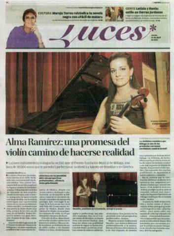 ALMA RAMIREZ: UNA FIRME PROMESA MALAGUEÑA DEL VIOLIN