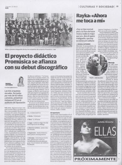 EL PROYECTO DIDÁCTICO PROMÚSICA SE AFIANZA CON SU DEBUT DISCOGRÁFICO