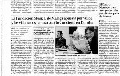 LA FUNDACIÓN MUSICAL DE MÁLAGA APUESTA POR WILDE Y LOS VILLANCICOS PARA SU CUARTO CONCIERTO EN FAMILIA