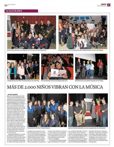 MAS DE 2.000 NIÑOS VIBRAN CON LA MÚSICA
